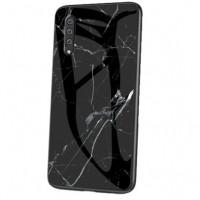 TPU+Glass чехол Luxury Marble для Samsung Galaxy A70 (A705F)