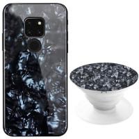Купить TPU+Glass чехол Shell & Popsocket (набор) для Huawei Mate 20, Epik