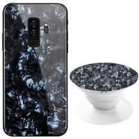 TPU+Glass чехол Shell с круглой подставкой для Samsung Galaxy S9+