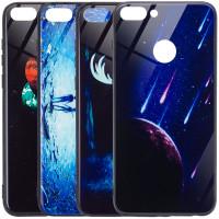 TPU+Glass чохол світиться в темряві  для Huawei Enjoy 7S