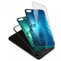 TPU+Glass чехол светящийся в темноте для Xiaomi Mi 6