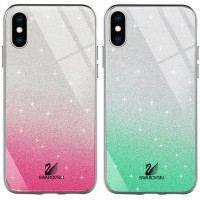 "TPU+Glass чехол Swarovski для Apple iPhone X / XS (5.8"")"