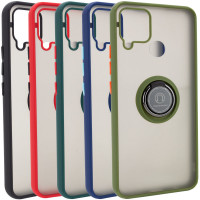 TPU+PC чехол Deen ColorEdgingRing for Magnet для Realme C15 / C12