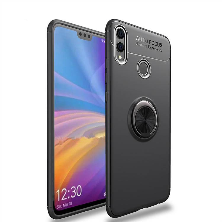 72c34c7f29bb0 TPU чехол Deen ColorRing под магнитный держатель для Huawei Honor 8X  (Черный / Черный)