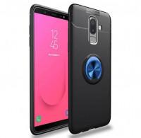 TPU чехол Deen ColorRing под магнитный держатель для Samsung Galaxy J8 (2018)