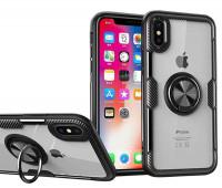 "TPU+PC чехол Deen CrystalRing под магнитный держатель для Apple iPhone X / XS (5.8"")"