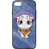 Купить TPU+PC чехол Embroider Animals Jeans series для Apple iPhone 7 / 8 (4.7 ), Epik
