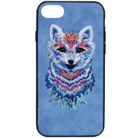 "TPU+PC чехол Embroider Animals Soft series для Apple iPhone 7 / 8 (4.7"")"