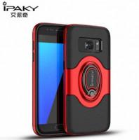 Купить TPU+PC чехол iPaky Feather с имитацией кожи и подставкой для Samsung Galaxy S7 (G930F)