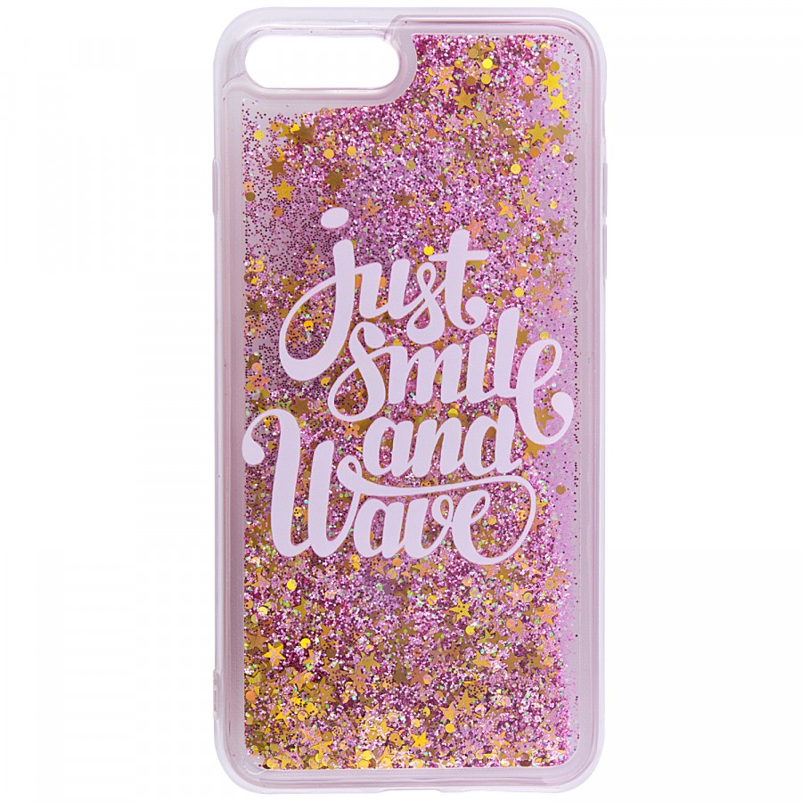 Купить TPU+PC чехол Liquid (glitter) для Apple iPhone 7 plus / 8 plus (5.5') за 299 грн