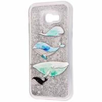 TPU+PC чохол Liquid (glitter) для Samsung Galaxy A3 (2017) (A320)