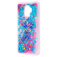 TPU+PC чехол Liquid (glitter) для Samsung Galaxy S9