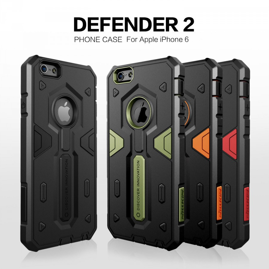 Купить TPU+PC чехол Nillkin Defender 2 для Apple iPhone 6/6s (4.7') за 319 грн