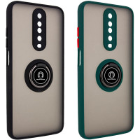 TPU+PC чехол Deen ColorEdgingRing for Magnet для Xiaomi Redmi K30 / Poco X2