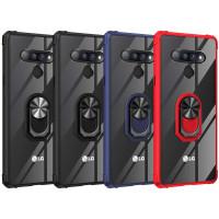 TPU+PC чехол Deen TransparentRing for Magnet для LG Stylo 6