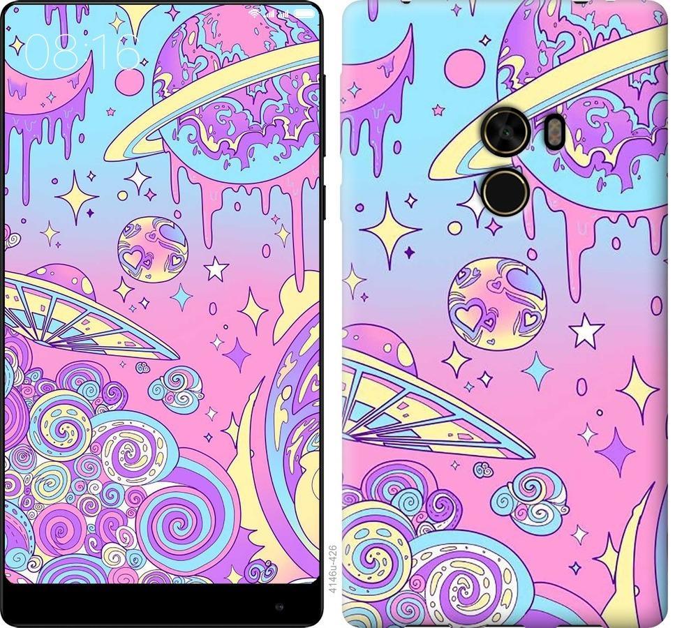 Чехол на Xiaomi Mi MiX Розовая галактика