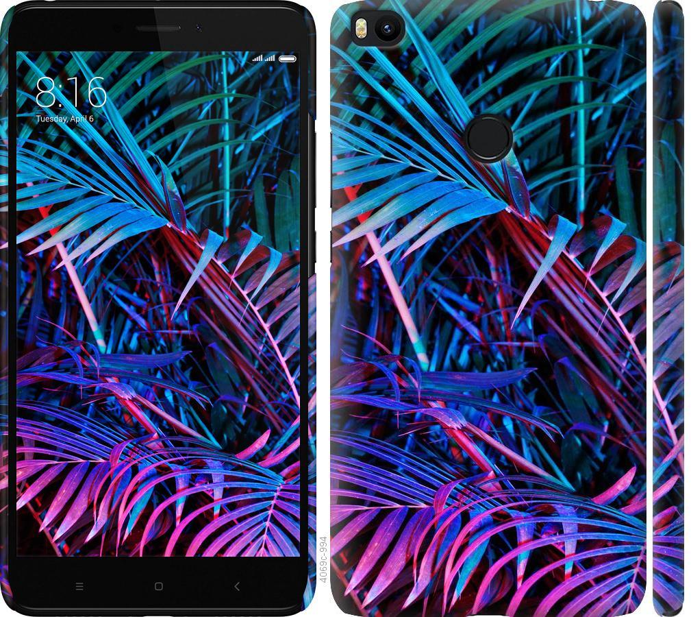 Чехол на Xiaomi Mi Max 2 Папоротник под ультрафиолетом