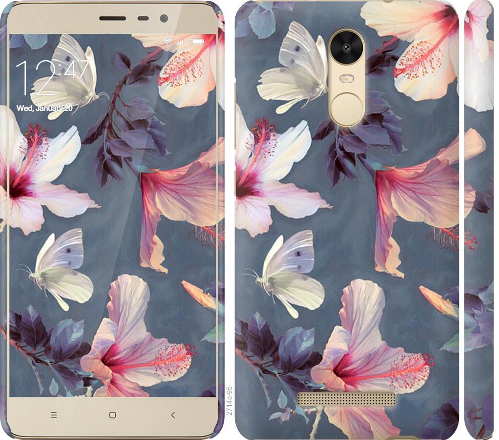 Чехол на Xiaomi Redmi Note 3 Нарисованные цветы