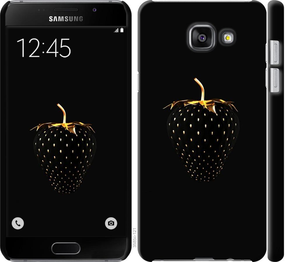 Чехол на Samsung Galaxy A7 (2016) A710F Черная клубника