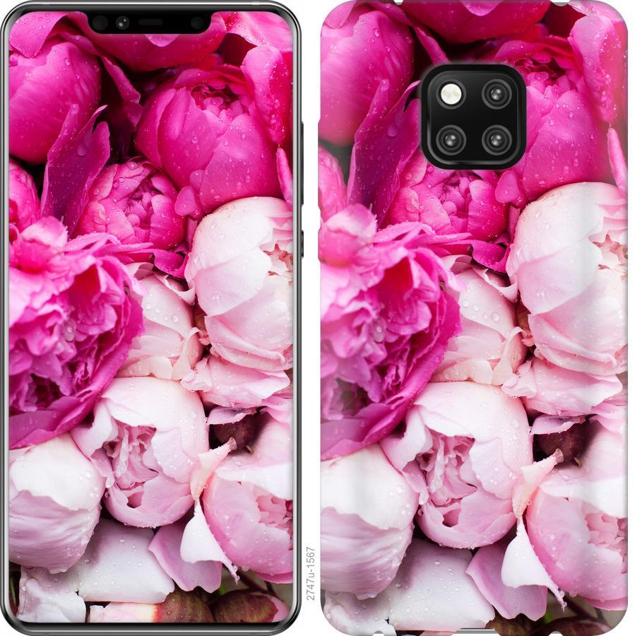 Чехол на Huawei Mate 20 Pro Розовые пионы