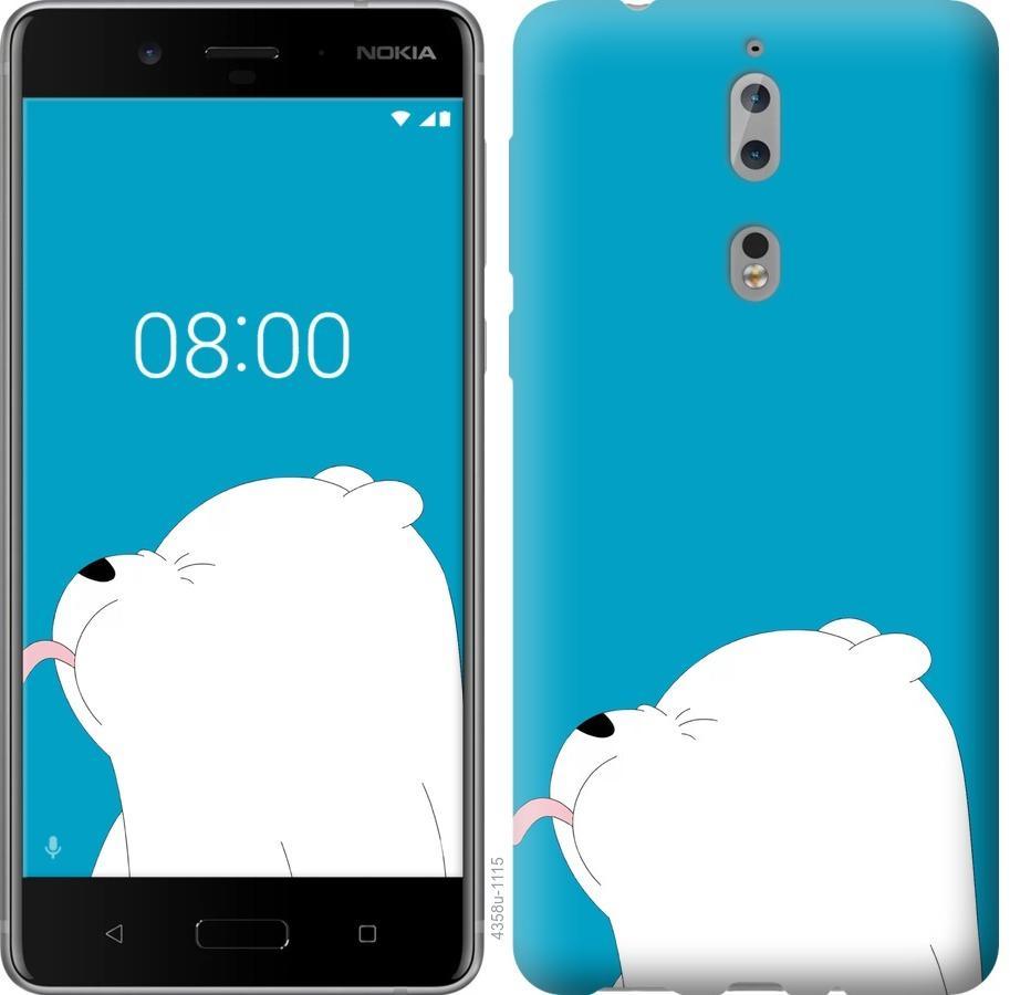Чехол на Nokia 8 Мишка 1
