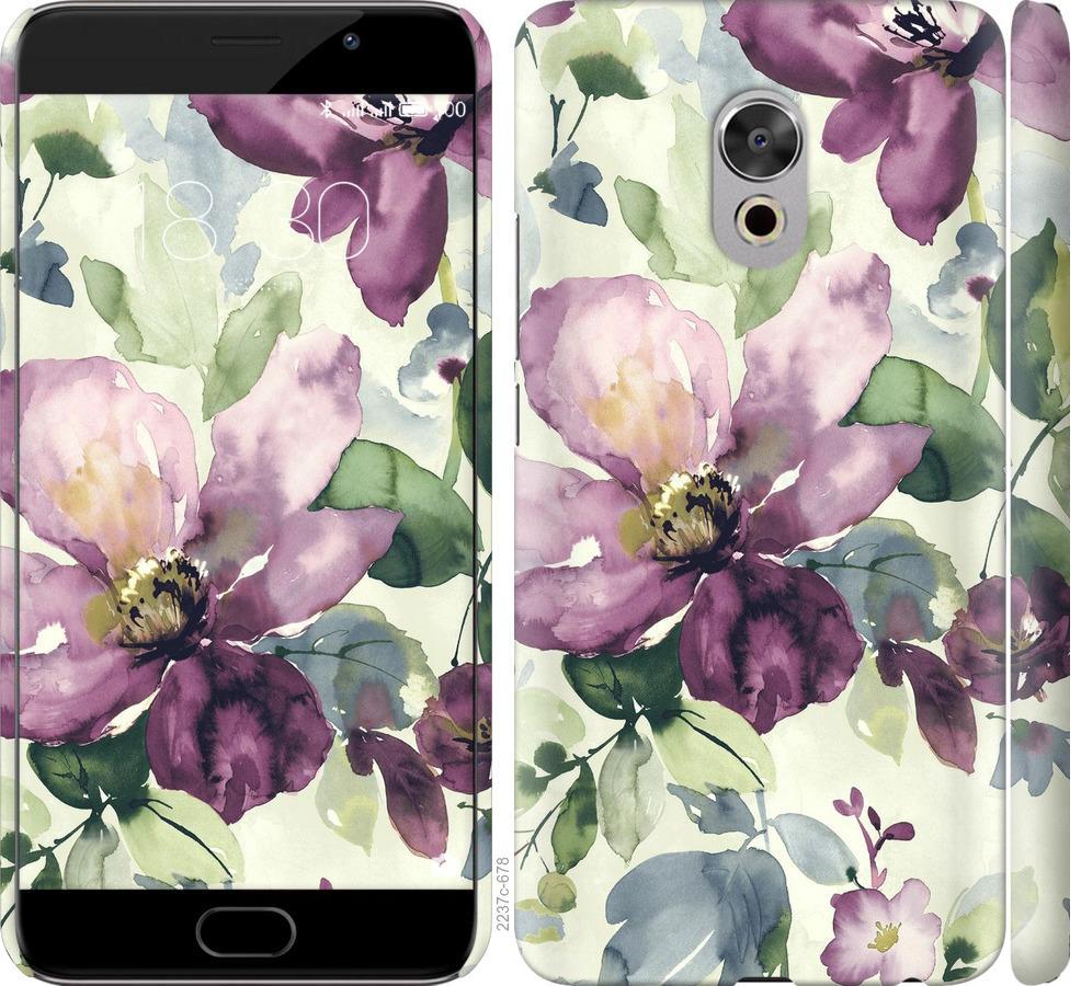 Чехол на Meizu Pro 6 Plus Цветы акварелью