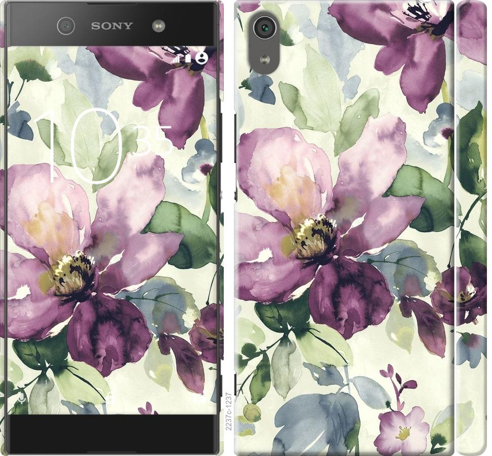 Чехол на Sony Xperia XA1 Ultra G3212 Цветы акварелью