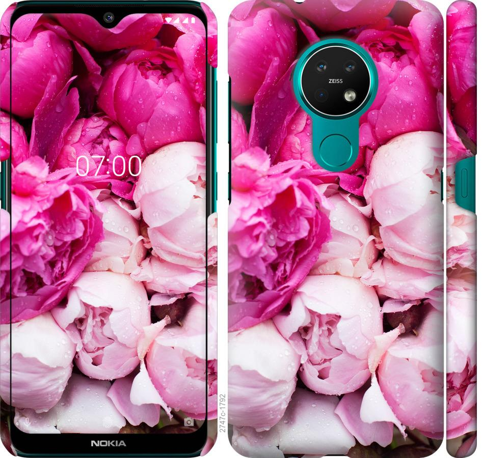 Чехол на Nokia 7.2 Розовые пионы