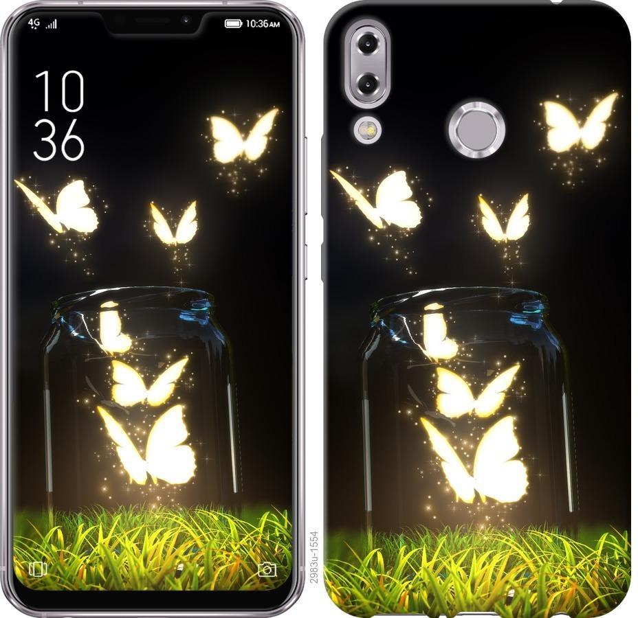 Чехол на Asus Zenfone 5 ZE620KL Светящиеся бабочки