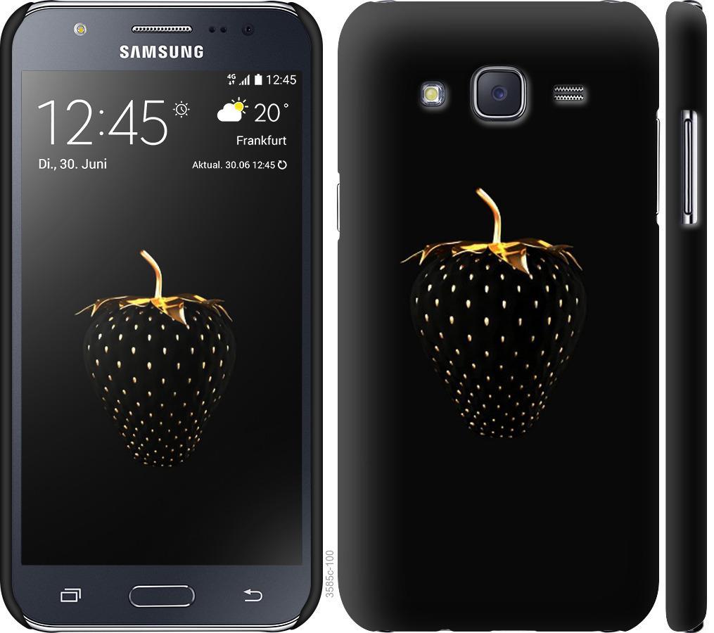 Чехол на Samsung Galaxy J5 (2015) J500H Черная клубника