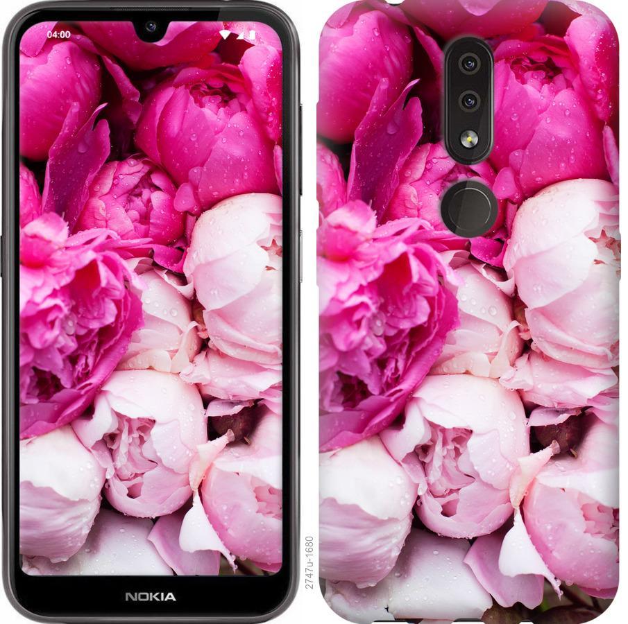 Чехол на Nokia 4.2 Розовые пионы