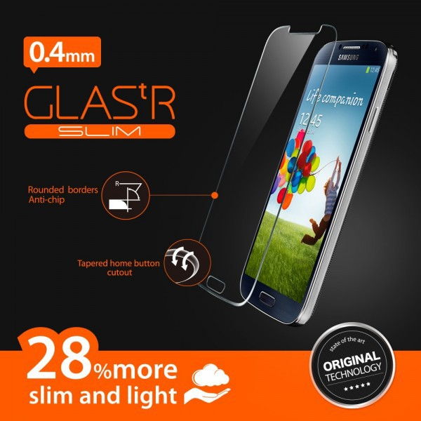 Фото SGP Screen Protector GLAS.tR SLIM Premium Tempered Glass Series для Samsung i9500 Galaxy S4 на itsell.ua