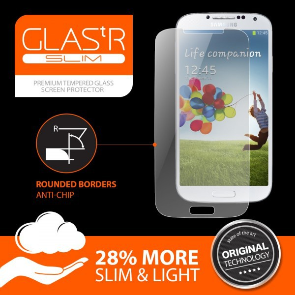Фото SGP Screen Protector GLAS.tR SLIM Premium Tempered Glass Series для Samsung i9500 Galaxy S4 в магазине itsell.ua