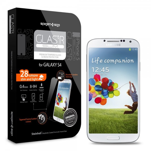 Купить SGP Screen Protector GLAS.tR SLIM Premium Tempered Glass Series для Samsung i9500 Galaxy S4 за 439 грн