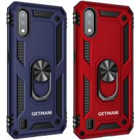 Ударопрочный чехол GETMAN Serge Ring for Magnet для Samsung Galaxy A01