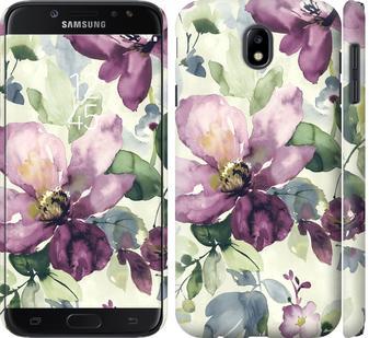 Чехол на Samsung Galaxy J7 J730 (2017) Цветы акварелью