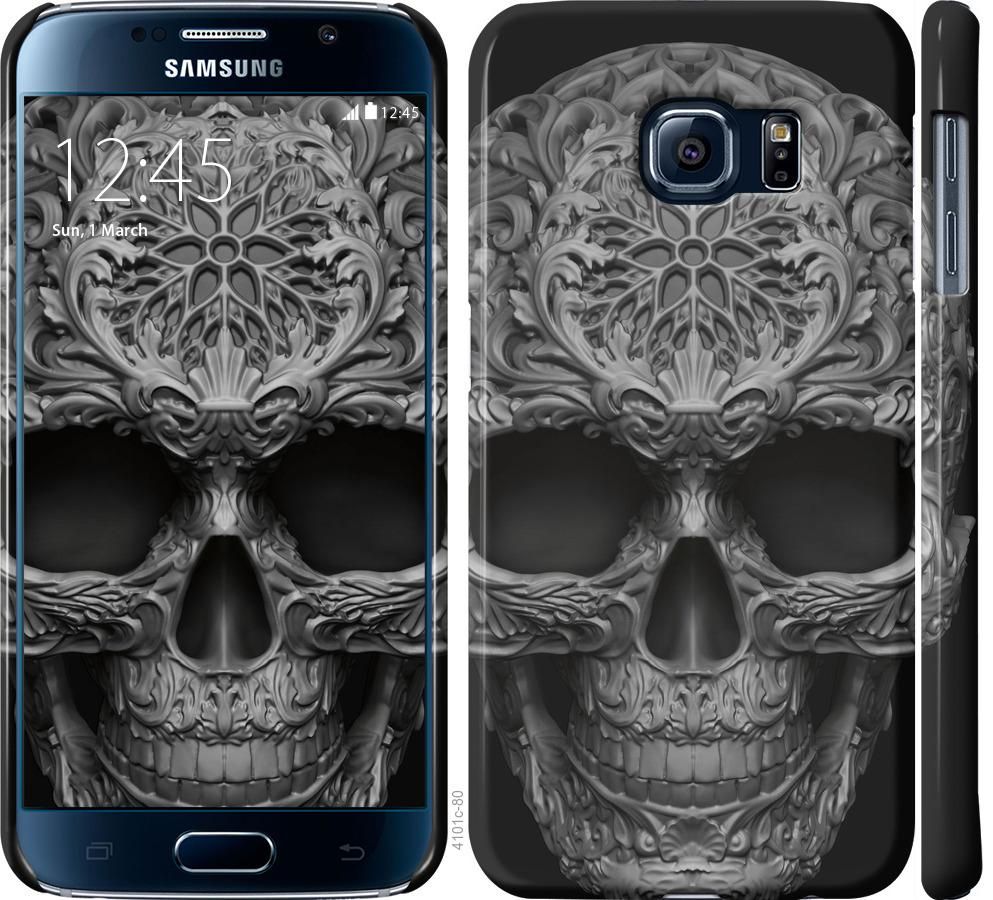 Чехол на Samsung Galaxy S6 G920 skull-ornament