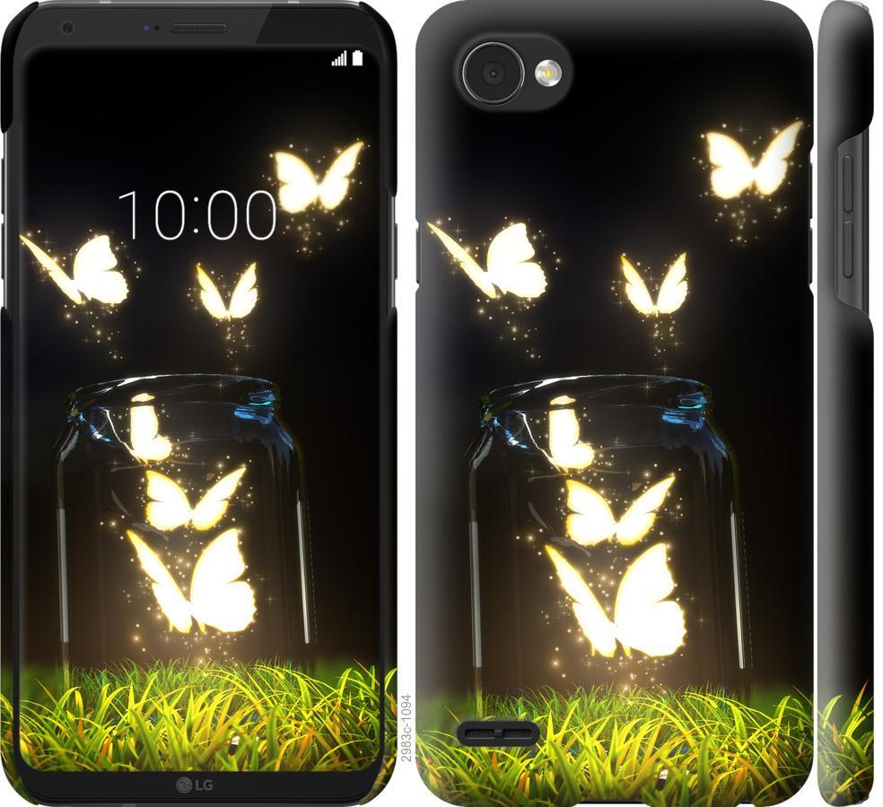 Чохол на LG Q6  Сяючі метелики