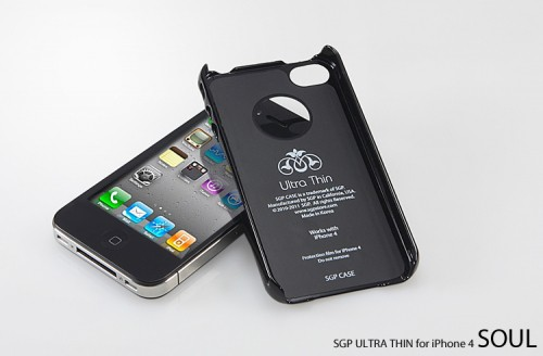 Накладка SGP Ultra Thin Air Vivid Series для iPhone 4S (+ пленка) Черный / Soul Black в магазине itsell.ua