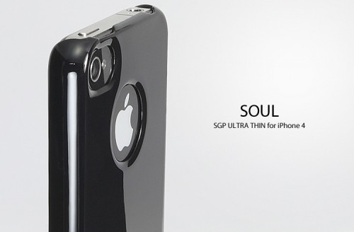 Накладка SGP Ultra Thin Air Vivid Series для iPhone 4S (+ пленка) Черный / Soul Black на itsell.ua