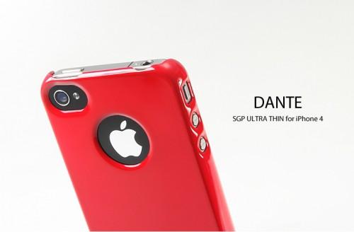 Накладка SGP Ultra Thin Air Vivid Series для iPhone 4S (+ пленка) Красный / Dante Red в магазине itsell.ua