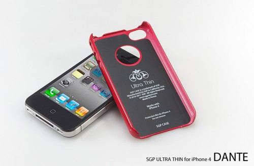 Накладка SGP Ultra Thin Air Vivid Series для iPhone 4S (+ пленка) Красный / Dante Red на itsell.ua