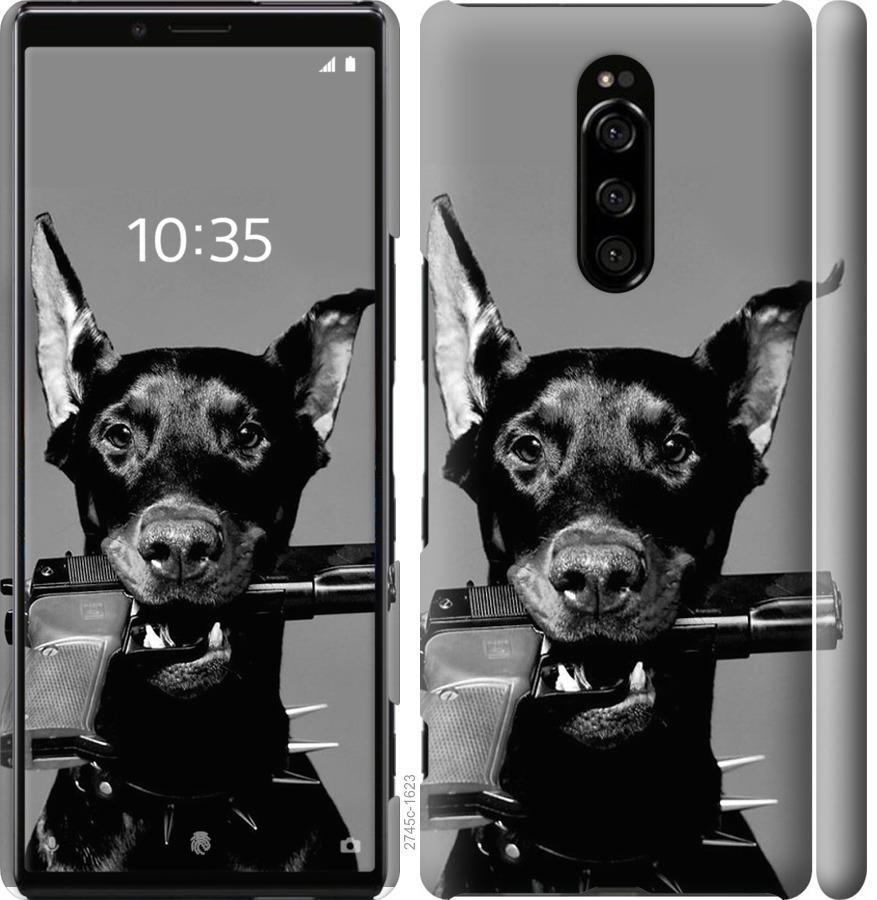 Чехол на Sony Xperia 1 J9110 Доберман