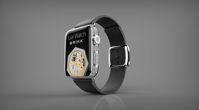 часы с кожаным ремешком Apple