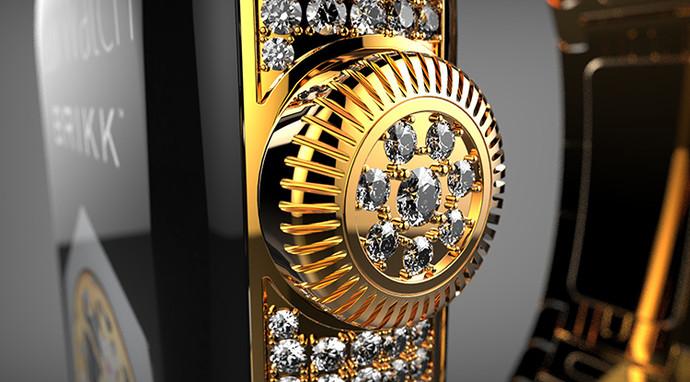 умные часы Brikk в золоте и бриллиантах