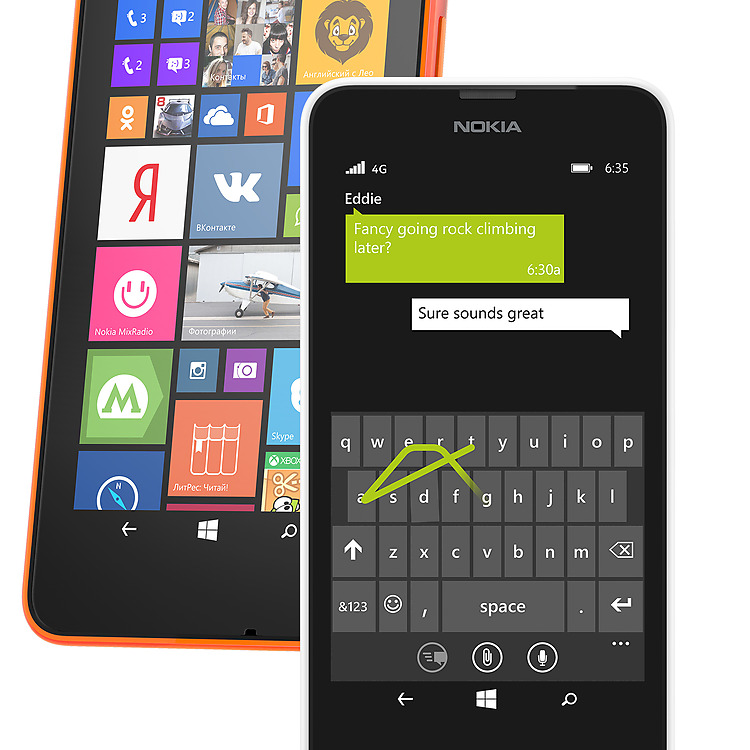 функции Windows Phone в Lumia 635