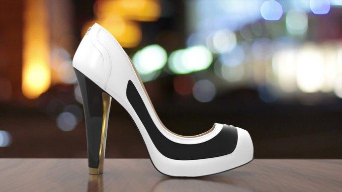 туфли, меняющие расцветку