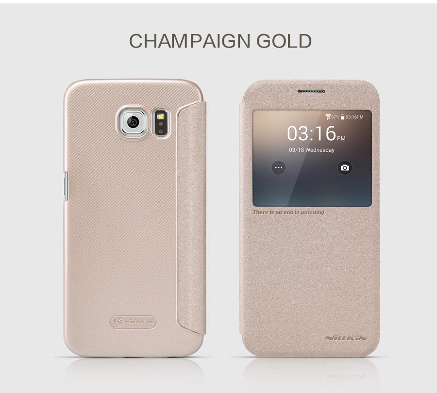 кожаный чехол книжка для Galaxy S6