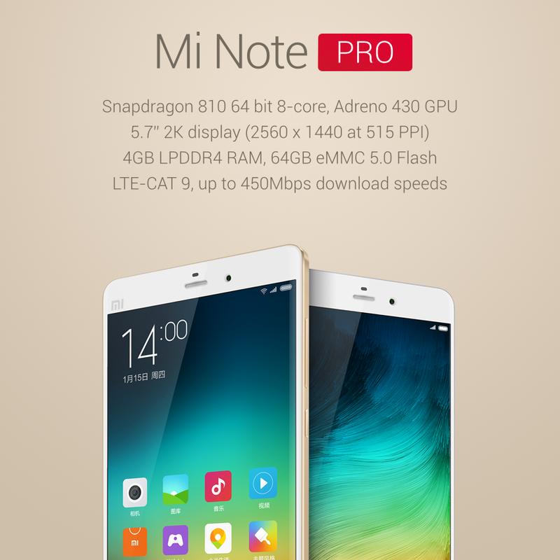 характеристики Mi Note Pro
