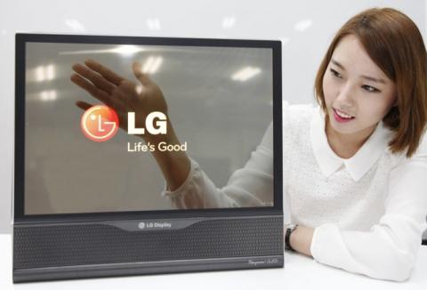 прозрачные экраны LG